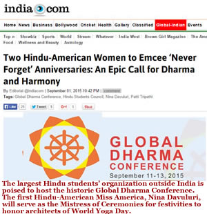 Two Hindu-American Women to Emcee 'Never Forget' Anniversaries